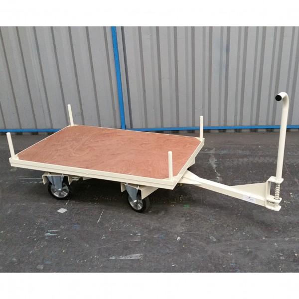 Base roulante double essieux directionnels