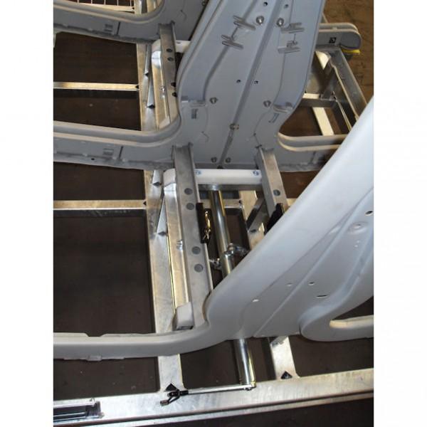 Praticable de transport galvanisé pour sièges