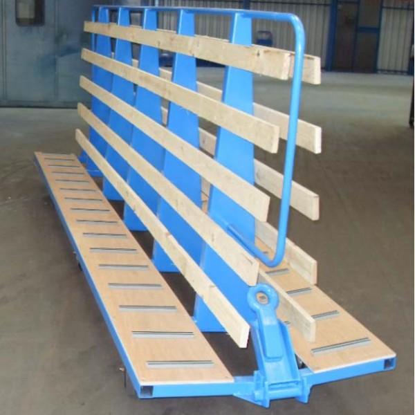 Chariot porte panneaux bois grande longueur