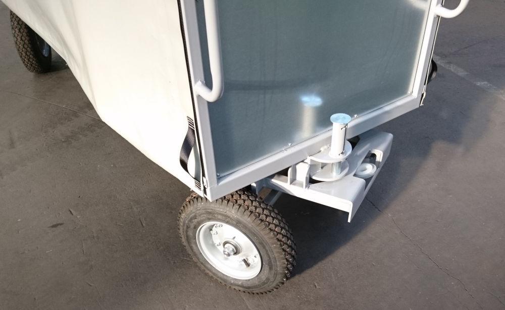 Remorque double essieux directionnelle
